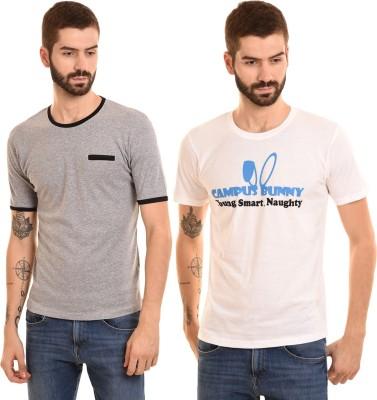 Campus Bunny Graphic Print Men Round Neck Multicolor T-Shirt(Pack of 2) Flipkart