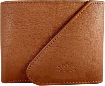 Quetzal Men Casual Tan Artificial Leather Wallet(5 Card Slots)