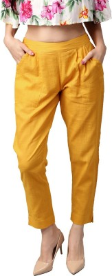 Style N Shades Regular Fit Women Yellow Trousers