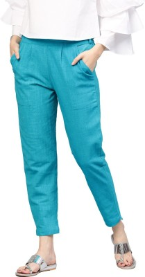 Style N Shades Regular Fit Women Light Blue Trousers
