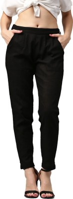 Style N Shades Slim Fit Women Black Trousers