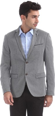 Arrow New York Solid Single Breasted Party Men Blazer(Grey) at flipkart