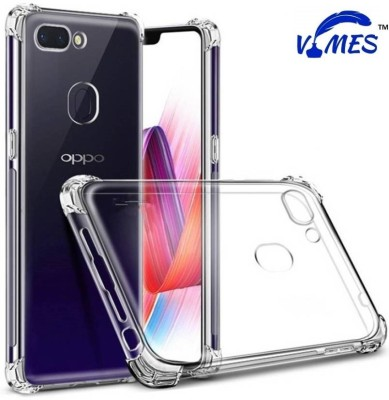 VIMES Back Cover for OPPO F9 Pro Transparent, Shock Proof
