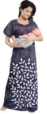 Cinco Women Maternity/Nursing Nighty(Multicolor)