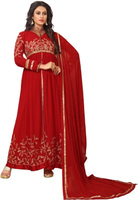 YOYO Fashion Anarkali Gown(Maroon) Flipkart