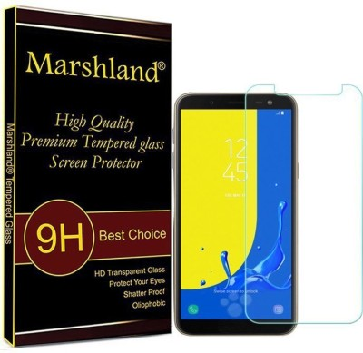 Marshland Tempered Glass Guard for Case Friendly Full Screen Protector, Transparent, Samsung Galaxy J6(Pack of 1)