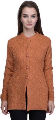 TAB91 Self Design Round Neck Casual Women Beige Sweater