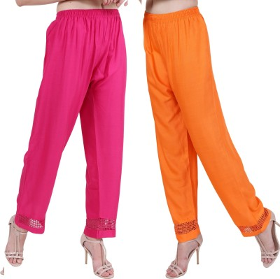KD FASHION Relaxed Women Multicolor Trousers