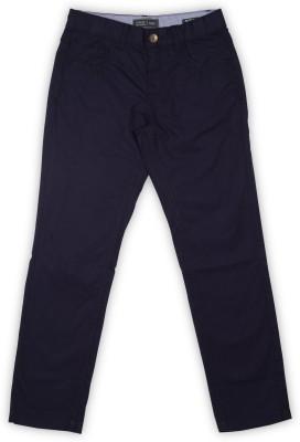 Indian Terrain Regular Fit Boys Dark Blue Trousers at flipkart