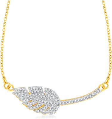 VK Jewels Leaf in Heart Gold-plated Cubic Zirconia Alloy Pendant