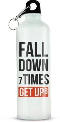 RAMPOSH Printed Sipper Bottle 02, Fall Down, Shaker,School Water Bottle,Fitness Bottle 750 ml Bottle(Pack of 1, White, Black, Orange)