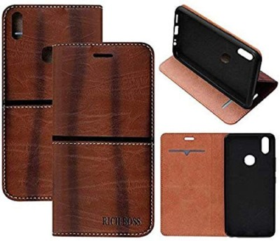 Gohaps Flip Cover for VIVO V3(Brown, Artificial Leather)