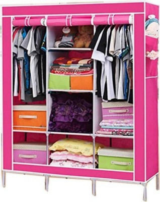 Furn Central PP Collapsible Wardrobe(Finish Color - Saving Flowers)