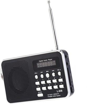 CRETO L-938 Digital FM Radio Music Player Support USB pendrive , aux and memory card FM Radio(Black)  available at flipkart for Rs.999