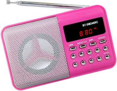 OYD Latest Series Digital BT246 FM Radio Mp3 Player Support recording , usb pendrive, aux in FM Radio(Pink)  available at flipkart for Rs.999
