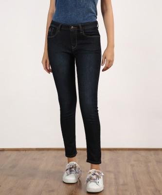 Flying Machine Skinny Women Dark Blue Jeans