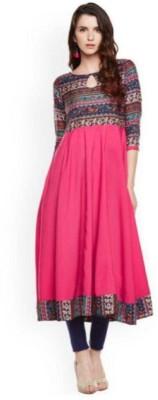 JAI SHREE BEBO Casual Printed Women Kurti(Pink)