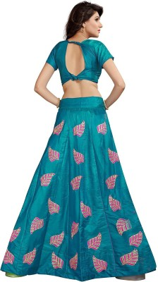 shoryam fashion Embroidered Semi Stitched Lehenga, Choli and Dupatta Set(Multicolor)