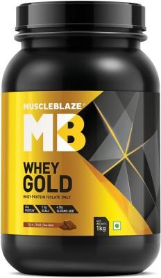 MuscleBlaze Whey Gold Protein (1Kg, Rich Milk Chocolate)