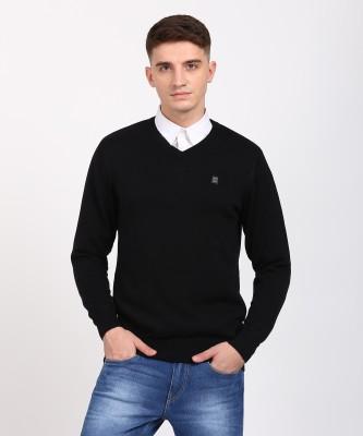 Monte Carlo V-neck Solid Men's Pullover