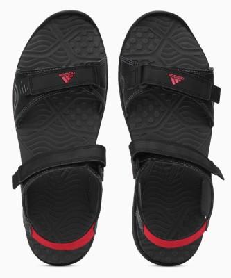 ADIDAS Men CBLACK/SCARLE/GREFIV Sports Sandals
