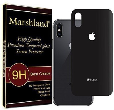 Marshland Back Tempered Glass for Apple iPhone X(Pack of 1)