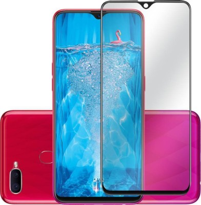 Express Buy Edge To Edge Tempered Glass for Oppo F9 Pro 5D Full Glue Tempered Glass(Pack of 1)
