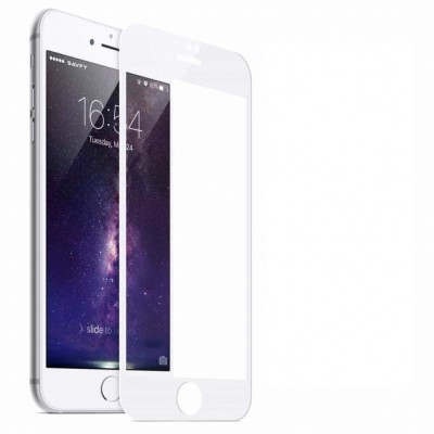 Niptin Tempered Glass Guard for Apple Iphone 6 Plus (5D) (Pack of 2)(Pack of 1)