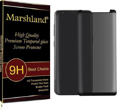 Marshland Tempered Glass Guard for Privacy, Screen Protector 3D Curved Edge Anti Scratch Bubble Free Glass, Samsung Galaxy S9 Plus(Pack of 1) at flipkart