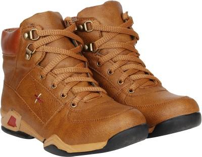 Kraasa Rockers Ride Boots For Men(Beige)