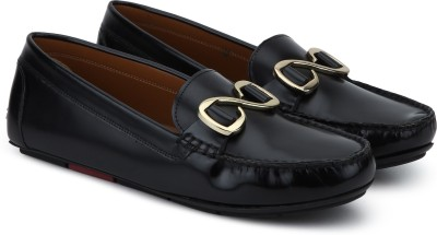 Uvanera by Ruosh 2907-SS17-W03A Loafers For Women(Black) at flipkart