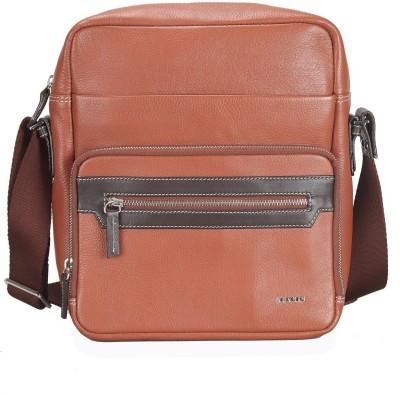 44% OFF on Scharf Men Casual Tan Genuine Leather Sling Bag on ... 4ea1959b060e1
