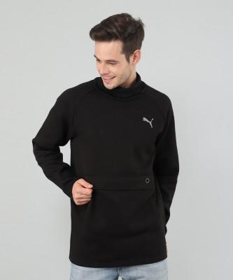 Puma Full Sleeve Solid Men Sweatshirt at flipkart