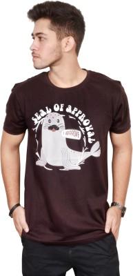 Brand of Amazing Trends Printed Men & Women Round Neck Brown T-Shirt Flipkart