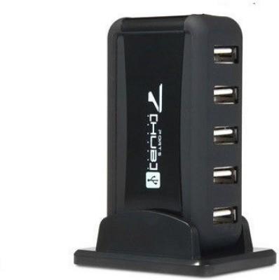 Freya HIGH SPEED USB 7 PORT DESKTOP HUB USB Adapter(Black)