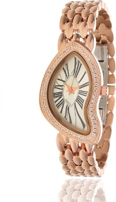AD Global AD-9113-RoseGold Limited Edition With Long Lasting Rose Gold Diamond Plated Material Analog Watch  - For Girls