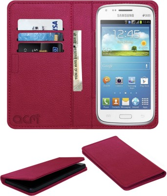 ACM Flip Cover for Samsung Galaxy Core(Pink, Cases with Holder, Artificial Leather)