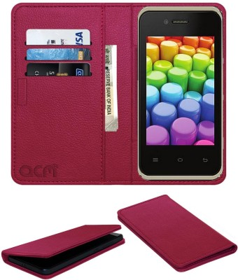 ACM Flip Cover for Karbonn Smart A52+ Plus Pink, Cases with Holder
