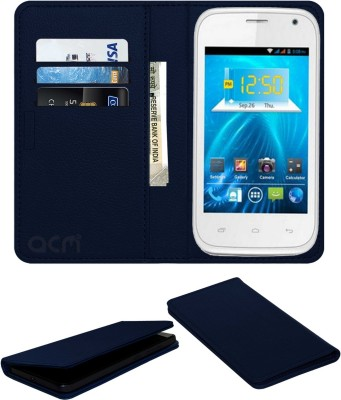 ACM Flip Cover for Spice Smart Flo Ivory 2 Mi-423(Blue, Cases with Holder)