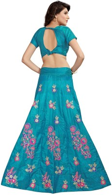 shoryam fashion Embroidered Semi Stitched Lehenga Choli(Blue) Flipkart