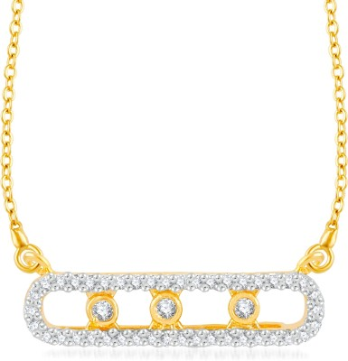 VK Jewels Flying Love Gold-plated Cubic Zirconia Brass, Alloy Pendant
