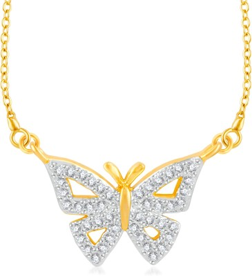 VK Jewels Crown of King Gold-plated Cubic Zirconia Brass, Alloy Pendant
