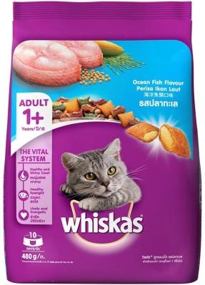 Whiskas adult ocean fish flavour cat food Fish 480 g Dry Cat Food