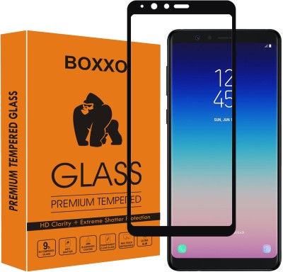 Boxxo Edge To Edge Tempered Glass for Samsung Galaxy A8 Star(Pack of 1)