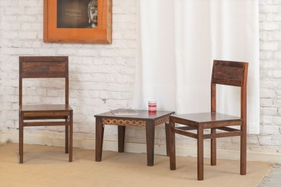 The Jaipur Living Solid Wood Dining Chair(Set of 2, Finish Color - Honey Brown)