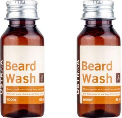 Ustraa By Happily Unmarried Beard Wash Woody oil (60Ml) (Pack of 2) Hair Oil(60 ml)