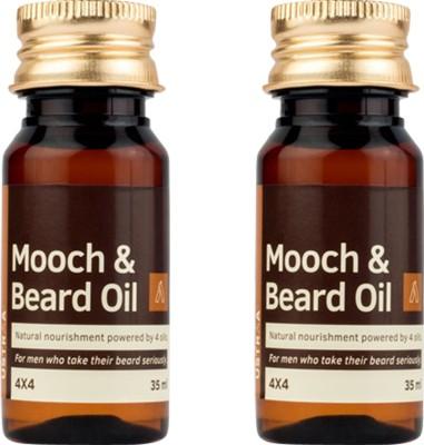 Ustraa By Happily Unmarried Mooch and Beard 4*4 Hair Oil (35Ml) (Pack of 2) Hair Oil(35 ml)