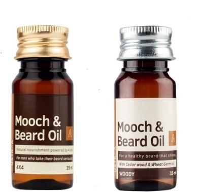 Ustraa By Happily Unmarried Mooch and Beard Oil Woody Hair Oil (35ml) Mooch & Beard Oil 4x4 Hair oil (35 ml) Hair Oil(70 ml)