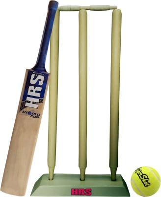 HRS Criket kit  Bat + Stumps + Tennis Ball + Bails , Size 5 Cricket Kit HRS Cricket Kits