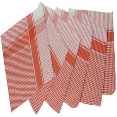 SASA HOMEZ SASAHOMEZ Red Kitchen Napkin Check Pack of 6 Napkins Red Napkins(6 Sheets) at flipkart